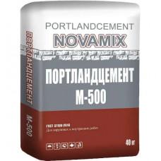 Цемент  М-500 40кг NOVAMIX