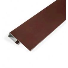 Планка завершающая 2,0х20х20 коричневая