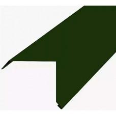 Планка торцевая 2,0х9х9 зеленая
