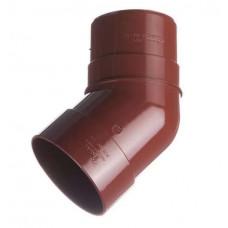 Колено пластиковое 45 (гранат)