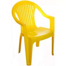 Кресло пластиковое желтое