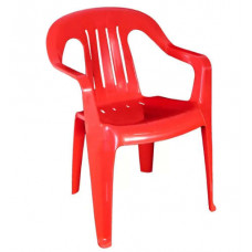 Кресло пластиково красное
