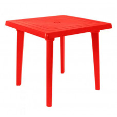 Стол пластиковый квадратный 80х80 красный