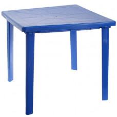Стол пластиковый квадратный 80х80 синий