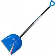 """Лопата снеговая """"Феличита"""" синяя 410х390мм с ручкой"""