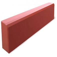 Бордюр литой СП тонкий красный 500х210х40мм