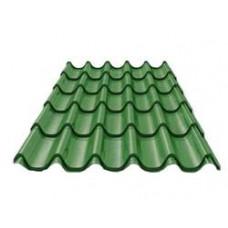 Металлочерепица 1,18х2,25 зеленая