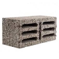 Блок 390х190х190мм керамзитобетонный М35 (8щел)