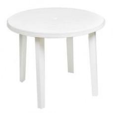 Стол пластиковый круглый ф-90 см белый