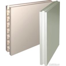 Гипсовая плита пазогребневая полнотелая 667х500х80