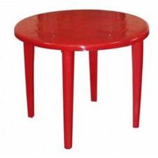 Стол пластиковый круглый ф-90 см красный