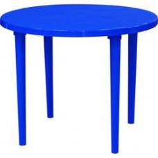 Стол пластиковый круглый ф-90 см синий