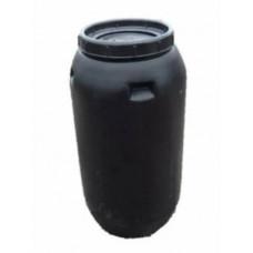 Бочка пластиковая 240л черная с крышкой Б/У