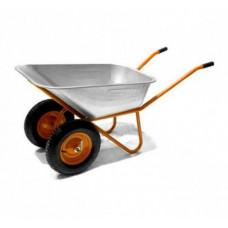 Тачка 2-х колес. строительная 110л оранжевая