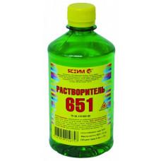Растворитель 651 Ясхим 0,5 л ПЭТ для разведения лаков, красок и эмалей