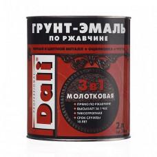 Грунт-эмаль по ржавчине Dali Special молотковая коричневая глянцевая 2 л для оград