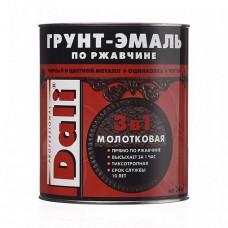 Грунт-эмаль по ржавчине Dali Special молотковая серая глянцевая 0,75 л для оград