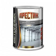Эмаль Престиж Для бетонных полов серая полуглянцевая 4 кг для бетонных полов и стен