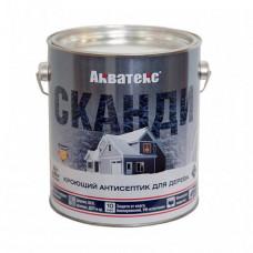 Антисептик Акватекс Сканди фьорд полуматовый 0,75 л для стен, фасадов, беседок