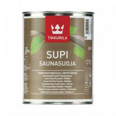 Защитный состав Tikkurila Supi Saunasuoja EP полуматовый 0,9 л для стен и потолков бани