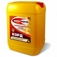 Огнебиозащитный состав Woodmaster Корд малиново-красный 5 кг для перекрытий