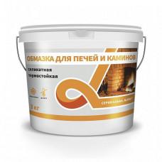 Обмазка Альфа белая 3 кг для печей, каминов и печных труб