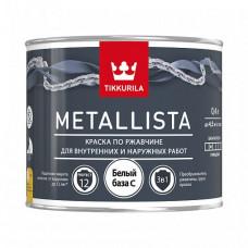Краска по ржавчине 3 в 1 Tikkurila Metallista C глянцевая 0,4 л