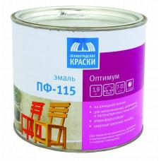 Эмаль Ленинградские краски Оптимум ПФ-115 белая глянцевая 1,9 кг для металла