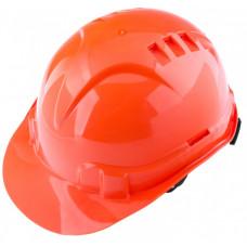 Каска защитная оранжевая с храповым механизмом