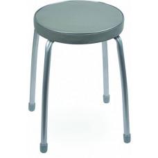 Табурет Фабрик 2 мягкое круглое сиденье d=32 см темно-серый тф02