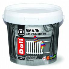 Эмаль Dali белая матовая 1 кг для радиаторов отопления, батарей, труб
