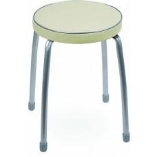 Табурет Фабрик 2 мягкое круглое сиденье d=32 см слоновая кость тф02