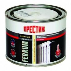 Эмаль Престиж для радиаторов белая полуглянцевая 0,4 кг