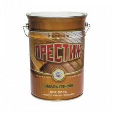 Эмаль Престиж ПФ-266 желто-коричневая глянцевая 6 кг для деревянных полов