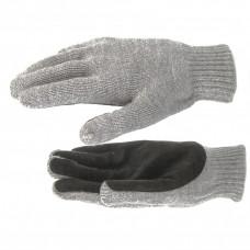 Перчатки двойн. п/шерст., спилк.налад.68630