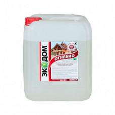 Огнебиозащитный пропиточный состав Экодом Огнебио золотисто-коричневый 20 кг