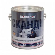 Антисептик Акватекс Сканди лакрица полуматовый 2,5 л для стен, фасадов, беседок