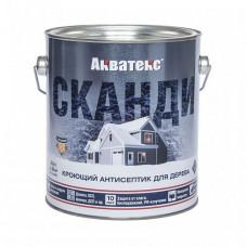 Антисептик Акватекс Сканди айсберг полуматовый 2,5 л для стен, фасадов, беседок