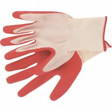 Перчатки полиэфирные с рельефным покрытием из нат.латекса СИБРТЕХ67767