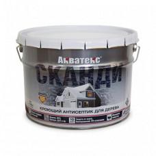 Антисептик Акватекс Сканди айсберг полуматовый 9 л для стен, фасадов, беседок