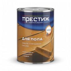 Эмаль Престиж ПФ-266 красно-коричневая глянцевая 6 кг для деревянных полов