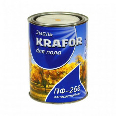 Эмаль Krafor ПФ-266 красно-коричневая глянцевая 2,7 кг для пола и деревянных поверхностей