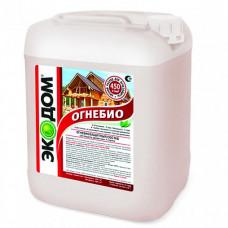 Огнебиозащитный пропиточный состав Экодом Огнебио золотисто-коричневый 5 кг