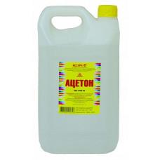 Ацетон Ясхим 5 л для растворения природных смол, масел, диацетата целлюлозы, полистирола