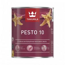 Эмаль Tikkurila Pesto 10 A матовая 0,9 л для стен, потолков, дверей, мебели