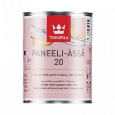 Лак Tikkurila Paneeli-Assa 20 EP полуматовый 0,9 л для панельных стен и потолков