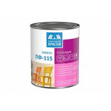 Эмаль Ленинградские краски Оптимум ПФ-115 шоколадная глянцевая 0,9 кг для металла