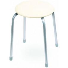 Табурет Классика 2 круглое сиденье d=32 см слоновая кость