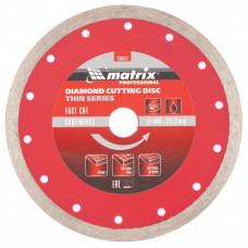 Диск алмазный MATRIX 730817 Сплошной тонкий 180х22,2 мокрый рез
