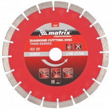 Диск алмазный MATRIX 730647 Сегментный тонкий 180х22,2 сухой рез